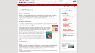 The site includes some quick tutorials, archived webinars, and plenty of teaching guides for educators.
