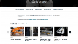 Collections include objects from across air and space flight.