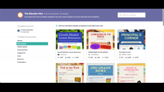 Browse a large library of teacher-created templates.