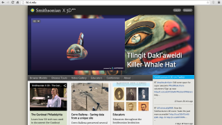Smithsonian X3D hosts interactive 3D images of artifacts.