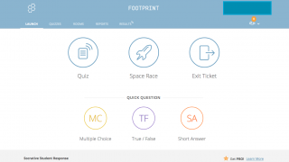 The teacher dashboard makes getting started a snap and presents multiple options.
