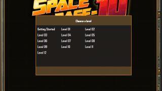 Choose a level or the Getting Started tutorial.