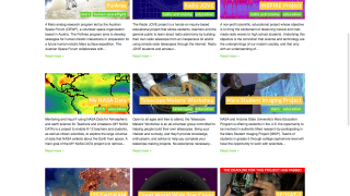 The education category lists resources and projects which may be relevant to classrooms.