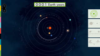 Drag planets in their orbit to determine how long it takes to get around the sun.