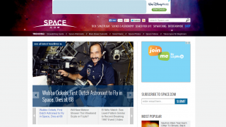 Space.com provides webcasts, photos, and articles about space.