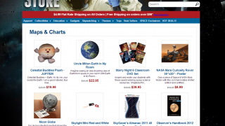 Links lead kids to the Space.com online store.