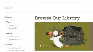 Teachers can browse the library using a variety of filters.