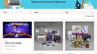 Resources include SSEC's science curriculum (available for purchase), video teacher guides, and a few games.