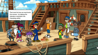 Students are introduced to the crew of S.S.Grin, who help the residents of Pacifico Island.