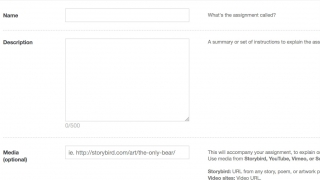 From the dashboard, teachers can create assignments.