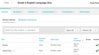 Teachers can add classes and students with a free teacher account.