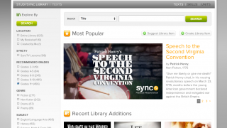 From the homepage, click on the Library tab.