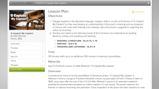 Many texts come with an accompanying lesson plan.