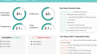 Easy-to-read results provide data by class or by student.