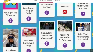 Students can complete quick quizzes.
