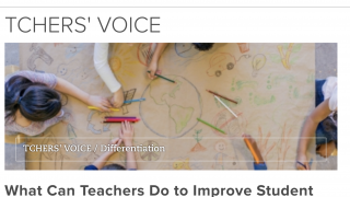 Stay current on relevant topics through the Tchers' Voice blog posts.
