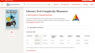Select materials based on text complexity.