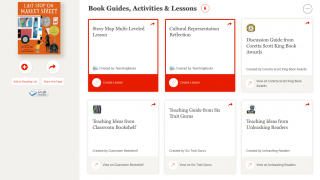 Find book guides, activity ideas, and lesson plans.