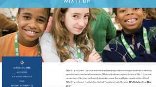 The Mix It Up activity encourages students to build relationships throughout their school community.