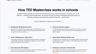 It also has tools for teachers to create their own videos and spread their ideas.