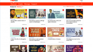 Discover videos by subject, many of which are broken down further.