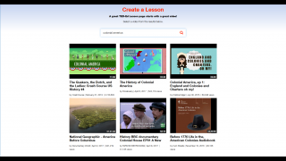Teachers can create their own lessons from scratch, beginning with an available video or their own.
