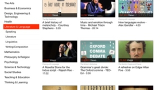 You can find curated content from TED, indexed by ELA strand.