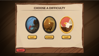 There are three difficulty levels.