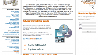 The Futures Channel store sells videos on DVD.