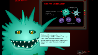 Players are congratulated when they finish a level.