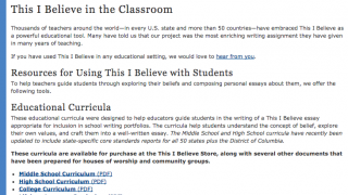 Teaching guides and materials are available to download.