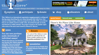 The home page has info for a broader audience as well as for educators.