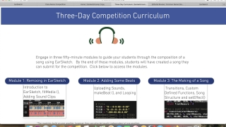 Three-day version of the curriculum