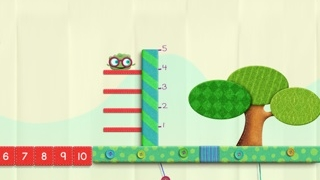 Add steps to a vertical number line.