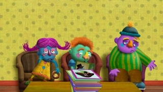 Colorful puppet-like characters suffering from disgusting ailments engage kids.