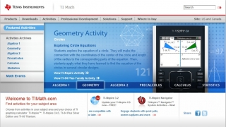 TI Math contains activities for subjects ranging from Algebra 1 to Calculus and Statistics.