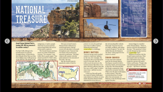 Each magazine is shown in a full-color spread, which can be displayed on an interactive whiteboard.