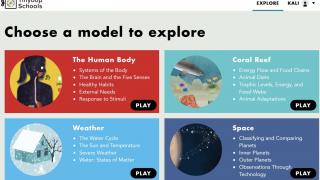 Students can explore models for various science concepts.