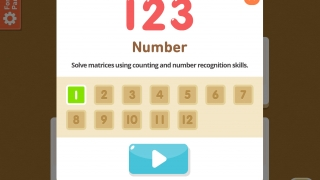 Each category has multiple levels that unlock as kids successfully complete matrices.