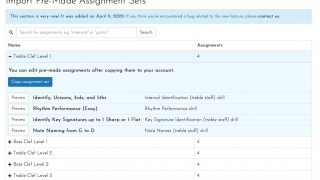 Teachers can customize built-in assignment sets or build their own from scratch.