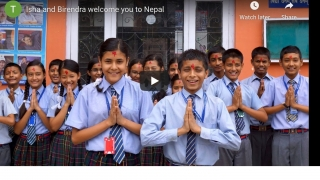 Welcome screen for Nepal