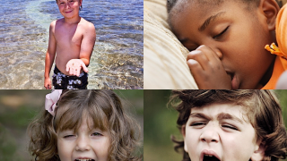 "Kids view four images and hear an emotion word such as ""happy"" or ""tired."""