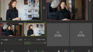 TouchCast Studio allows for multiple cameras for sophisticated video creation.