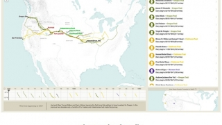 Examine overland trails and read diary entries of experiences on them.