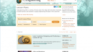 Almost 150 lesson plans cover grades 3-12 across engineering and related subjects.