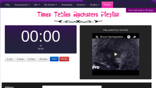 Teachers can play a rock song and set a timer for students while they work.