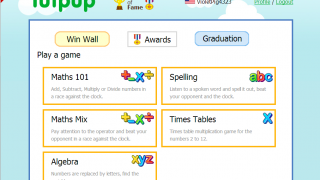 Tutpup lets kids play math and spelling games against kids from around the world.