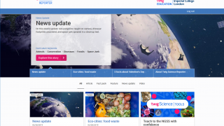 The site provides timely science news, facts, videos, and other learning and discussion opportunities.