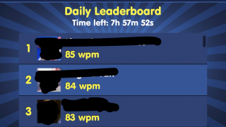 High scores are shared on the Leaderboard.