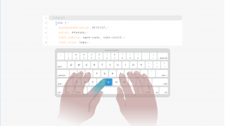 Lessons on basic HTML and CSS are also given, including typing practice.